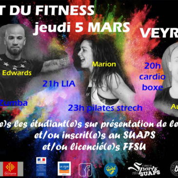 Montpellier – Nuit du fitness du 5 mars