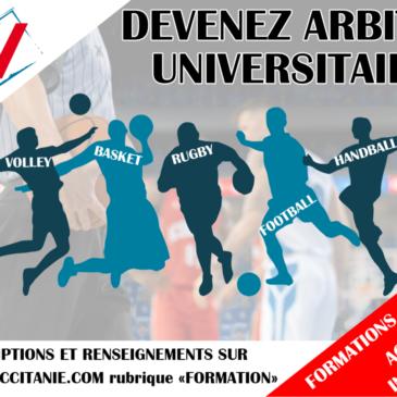 Formations arbitres universitaires